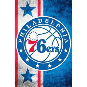 Philadelphia 76ers Phillys - Logo POSTER 57x86cm NEW * NBA Basketball Team