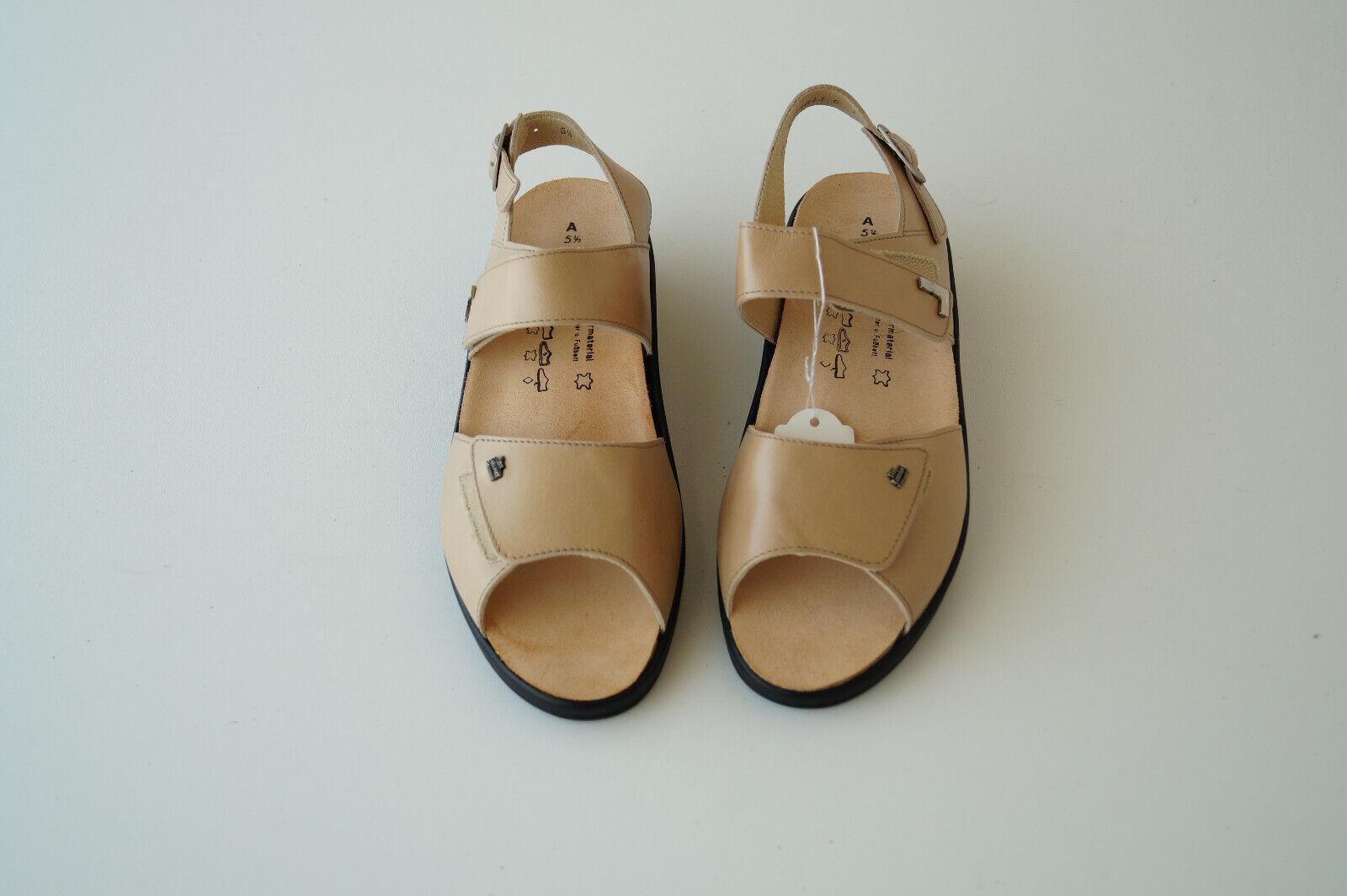 FINN COMFORT Hampton Schuhe Sandale Leder Einlagen Klett Gr.5,5   38,5 Beige NEU