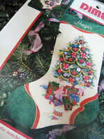 Dimensions Christmas Crewel Stitchery Embroidery Stocking Kit,ribbon Tree,8081