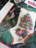 Dimensions Christmas Crewel Stitchery Embroidery Stocking Kit,ribbon Tree,8081