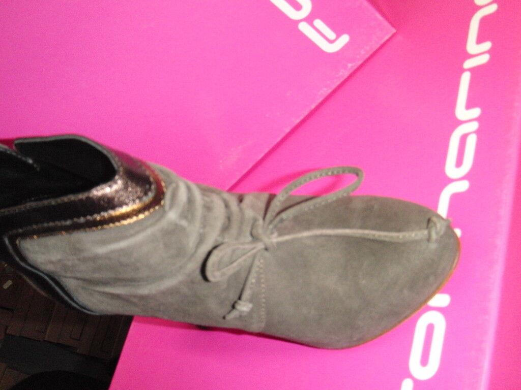 FORNARINA Low boots veau velour NEUVES Tal 8cm 8cm Tal Val 179EPointures 35,40. 0c10fa