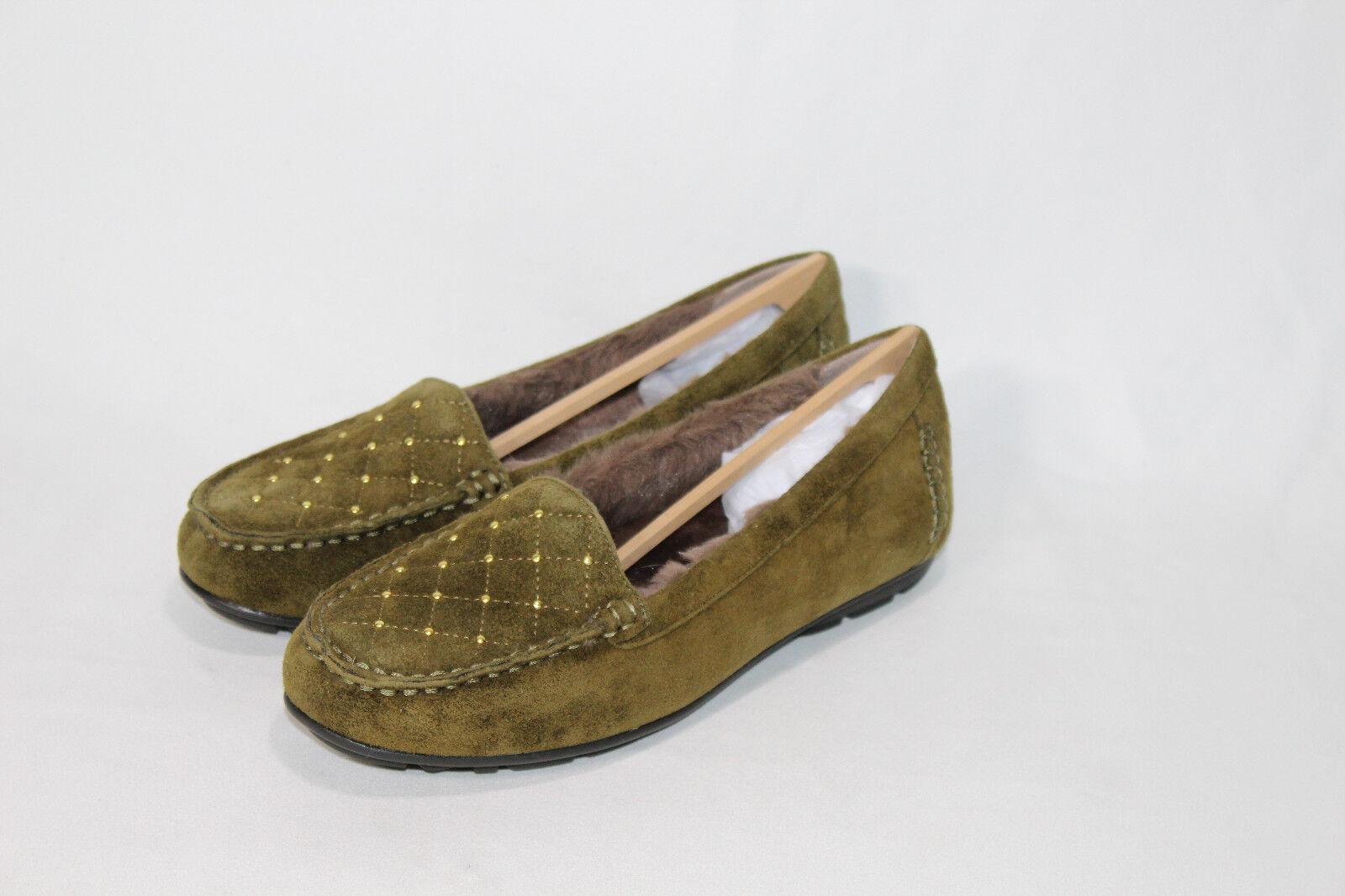 Naturalizer slip on fur moccasins shoes pice size color new