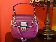 COACH LEATHER COLORBLOCK NEW WILLIS 19031 BERRY