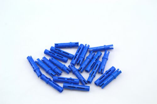 Lego Technic Pin 3L with Friction Ridges Lengthwise Blue Lot of 20 New