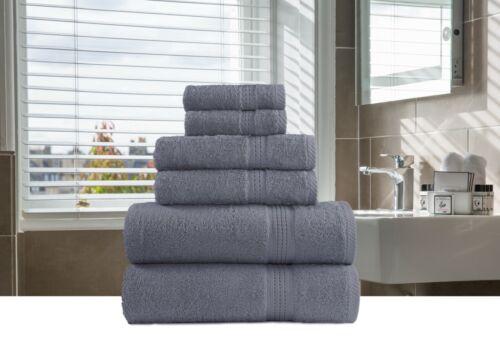 6-Piece Bath-Hand-Face Towels Packs Sets 100/% Organic Cotton Multi Color Vibrant