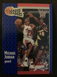 MICHAEL-JORDAN-1991-92-Fleer-League-Leaders-220-Chicago-Bulls