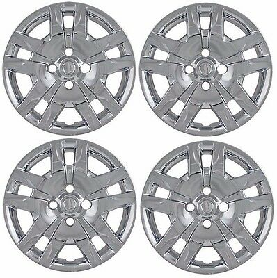 "NEW 16"" Bolt-On CHROME Hubcaps Wheelcover SET that FIT ..."