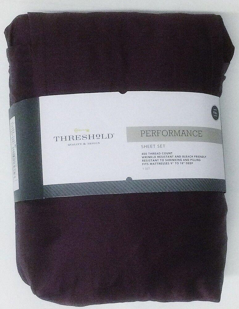Dark lilaThreshold 400TC 100% Cotton Cotton Cotton 18  Full Größe Sheet Set Bedroom 78a11d
