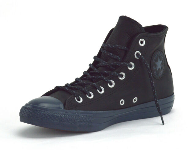 e63b38025a26 Converse Chuck Taylor All Star Hi Black Sharkskin Mens Leather Hi ...