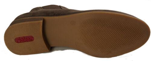 Chelsea Shoes Rieker Novità Fodera marrone tessuto Stivaletti in Boots EFO4q