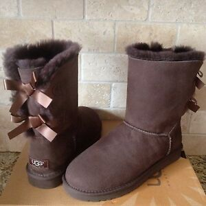 UGG COURTE SHEEPSKIN BAILEY BOW 409 BOW CHOCOLAT BRUN SUEDE BOTTES SHEEPSKIN TAILLE US 8 23a5c68 - freemetalalbums.info