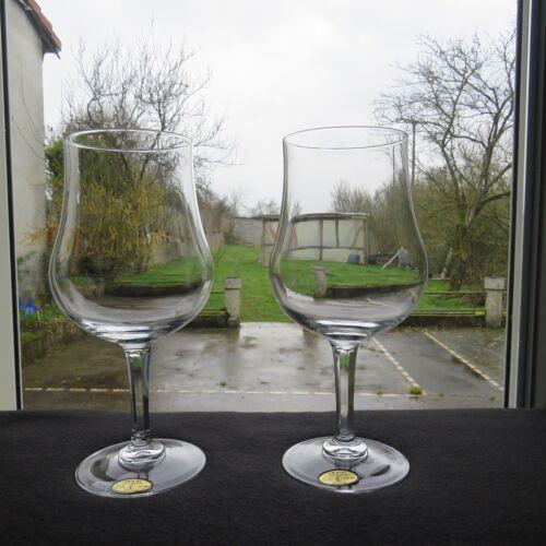 SAINT LOUIS : 2 verres a vin de bordeaux pour dégustation modèle Nérac 64 cl
