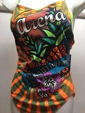 Women's Arena 1 Piece South Beach Swimsuit BRIGHT COLORS Racerback Size 40