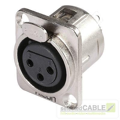 Hicon HI-X3DF-M XLR 3-pol Metall-,Löttechnik-Einbaubuchse Steckverbinder Stecker