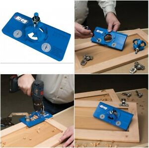 Hinge jig cabinet wooden door hinges installation drill - Hinge placement on exterior door ...