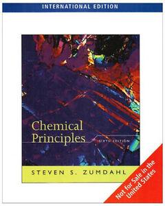 Chemical principles 6th edition steven s. Zumdahl 9780547198101 | ebay.