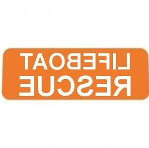 LIFEBOAT-RESCUE-ORANGE-with-REVERSED-Reflective-Silver-Text-univisor-Sign-visor