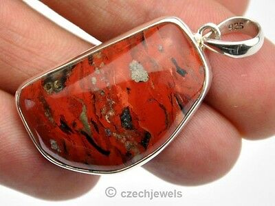 Jasper red selected nice .925 silver pendant - 48cts CJAPEND0602