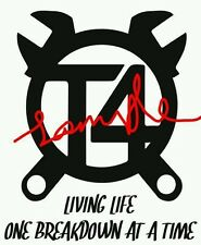 T4 LIVING LIFE ONE BREAKDOWN AT A TIME VW T4  VDUB DAYVAN CARVELLE STICKER