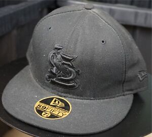 Details about Rare VTG NEW ERA St Louis Cardinals MLB 59Fifty Fitted Hat Cap  90s Black 7 1 8 1fddc244786