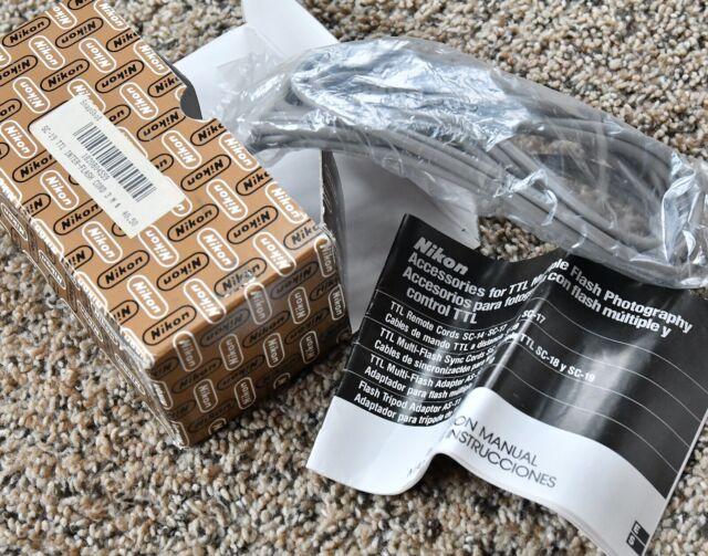 NEW Genuine Nikon SC-19 10' (3m) Long Multi-Flash TTL Sync Cord w/Manual & Box