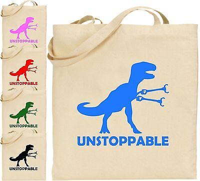 Unstoppable groß Baumwoll-tragetasche Dinosaurier Humor Cool T-Rex