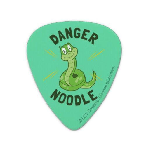 Set of 6 Danger Noodle Snake Funny Humor Novelty Guitar Picks Medium Gauge