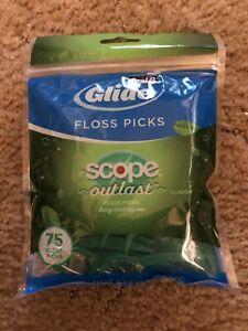 ORAL-B-Glide-Scope-Outlast-Dental-Floss-Flosser-Picks-Mint-75-Floss-Picks