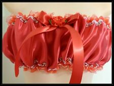 ADULT SISSY GIRL FRILLY  MEN DRESS UP ** BRIGHT RED SATINY BRA FOR PANTIES