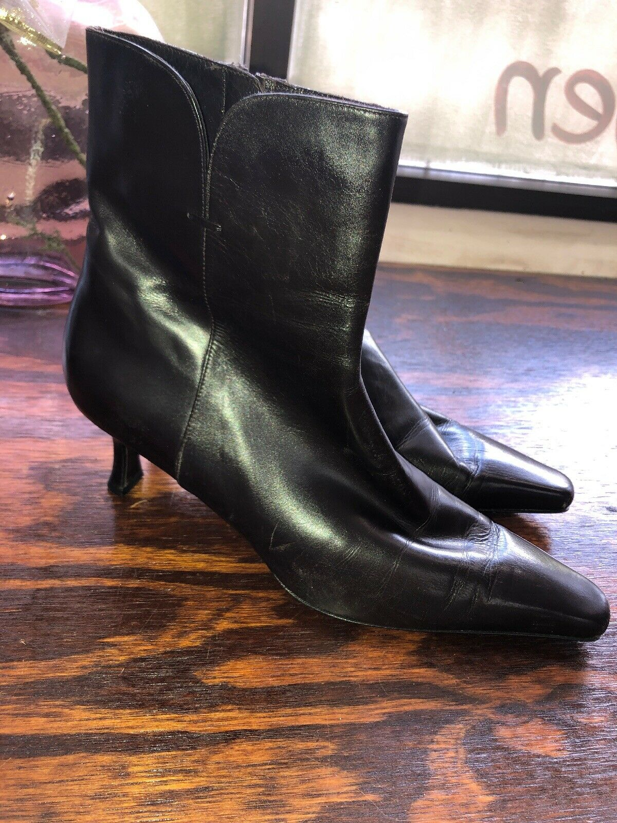 Stuart Weitzman  Ankle Boots Booties Brown Leather Sz 9