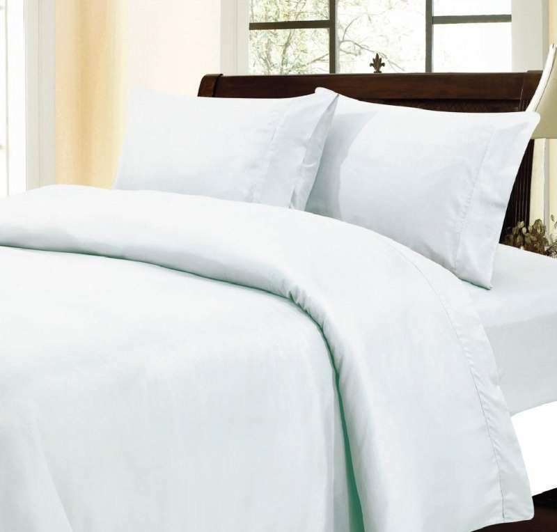 1000 TC Egyptian Cotton Home Bedding Collection Select Size White Solid