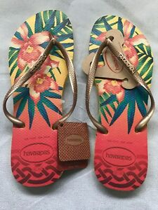 Havaianas-flip-flops-Size-41-Slim-Tropical-Two-Pairs-For-Sale-25-00-Each