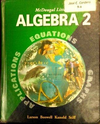 McDougal Littell Algebra 2 Boswell, Kanold,Larson Stiff