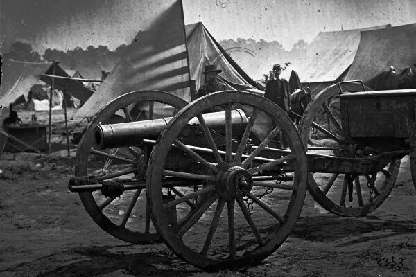 5x7 Civil War Photo Captured 12 Pounder Howitzer at Hanover Court House