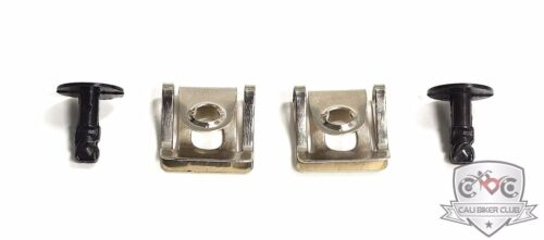 1//4 Turn Quick Release Engine Undertray Cover Kit Metal Screw /& Clip 2 Sets