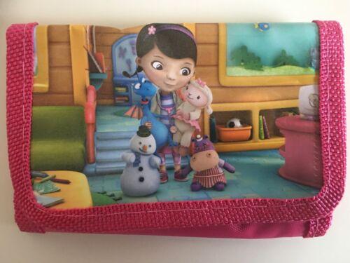 Doc McStuffin Portefeuille Filles Enfants Pièce Sac Enfants/'s Sac à main à fermeture Éclair Cadeau Anniversaire