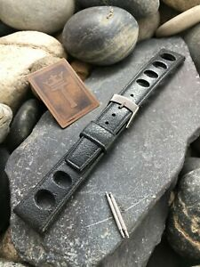 18mm-Skindiver-Rally-Oval-Big-Hole-Dive-Strap-New-Old-Vintage-Watch-Band-NOS