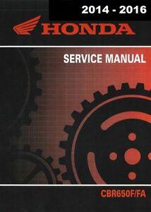 2014 2015 2016 honda cbr650f cbr650fa cbr 650f cbr 650fa service rh ebay com USA Honda Motorcycle Repair Manual Honda ATV Service Manual