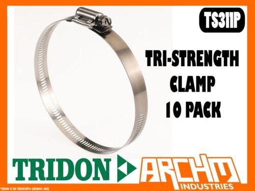 TRIDON TS311P TRI-STRENGTH CLAMP HOSE 10 PACK 238MM-311MM TS SERIES