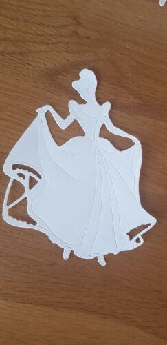 4 X Large Disney Cenicienta dado corta para elaboración de Tarjetas//álbumes de recortes