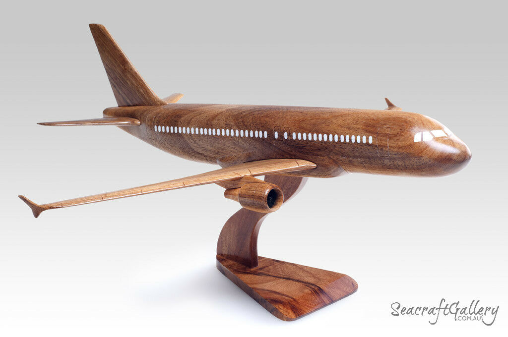 HANDMADE WOODEN MODEL AIRBUS 320 AIRPLANE HELICOPTER GIFTS HOBBIES