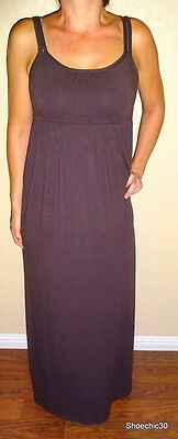 Mossimo Supply summer sexy dress chestnut brown womens cotton maxi sundress XS