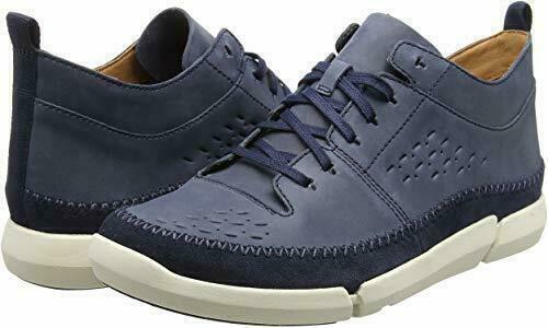Clarks Men's Trifri Hi High Sneaker Navy Leather UK Size 10 G