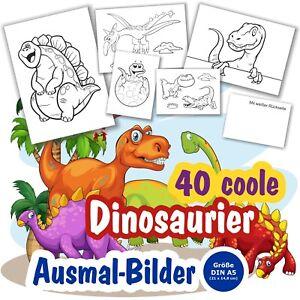 40 Coole Dinosaurier Ausmalbilder Fur Kinder Kindergarten Vorschule Ab 3 Jahre Ebay