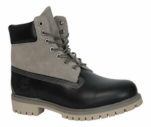 pelle pelle in A13qn 6 Premium Stivali scamosciata Timberland Inch D81 Fg Up Mens in nera Lace Y7qpxp