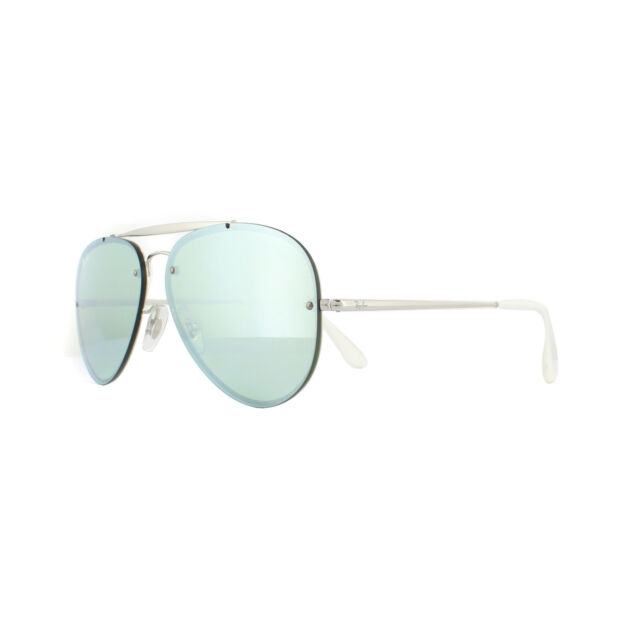5d74a239a73 Ray-Ban Sunglasses Blaze Aviator 3584N 905130 Silver Dark Green Silver  Mirror