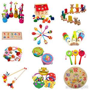 kinder holzspielzeug lernspielzeug tier nummer rassel motorik baby spielzeug ebay. Black Bedroom Furniture Sets. Home Design Ideas