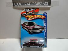 2010 Hot Wheels #85 Maroon '67 Dodge Charger w/MC5 Spoke Wheels