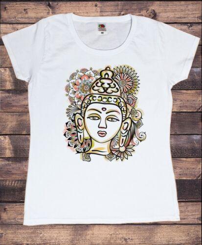 Women/'s T-shirt Buddha meditazione chakra ART PRINT TS1703