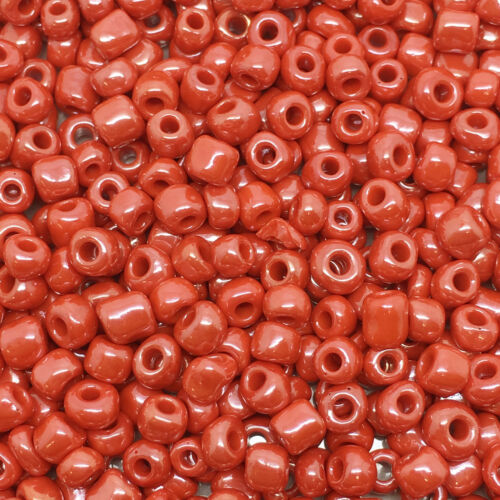 size 8//0 choice of colours Opaque Lustered approx 3mm 50g glass seed beads